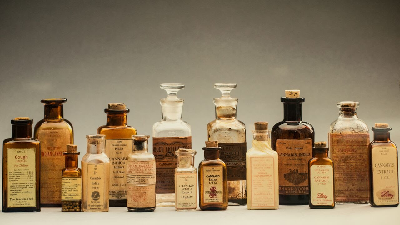 antique-pharmacy-bottles-cannabis-extract